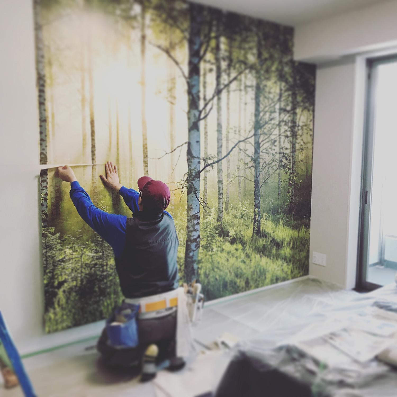 森の中のような壁紙 そして彩雅さんブログ紹介ありがとうの話