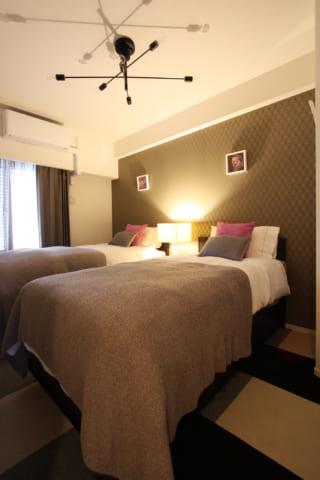 マンション6畳のお部屋が、ホテルライクな寝室になる