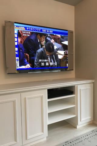 壁掛けテレビができるまで、の様子(リビング編)
