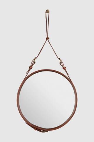 吊り下げられたデザインの円形ミラーの話