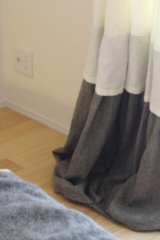 無地のカーテンをデザインする